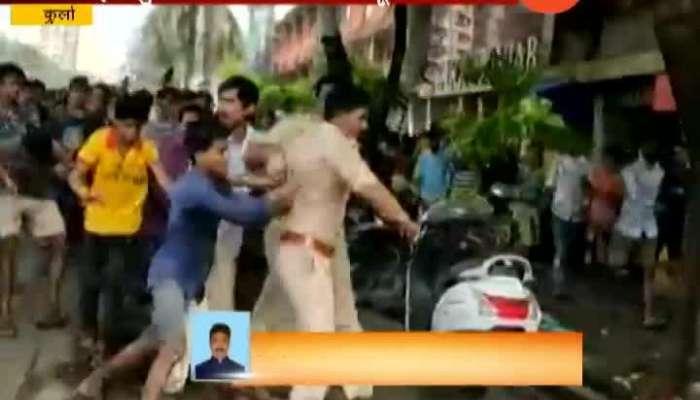 Mumbai Kurla Mob Beating Police