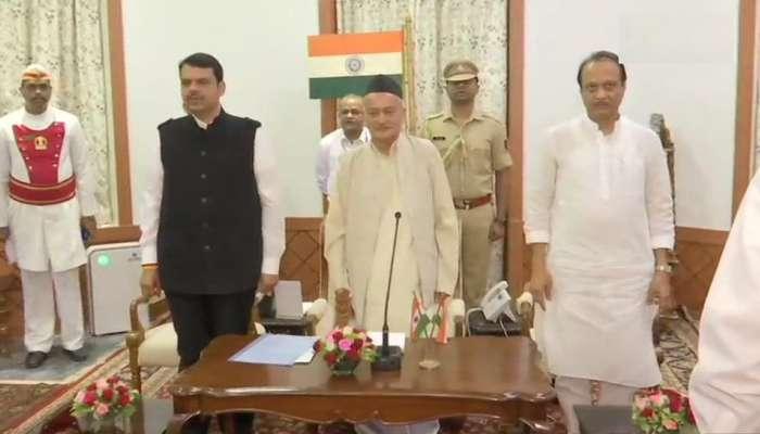 महाराष्ट्रातून सकाळी ५.४७ वाजता राष्ट्रपती राजवट हटवली