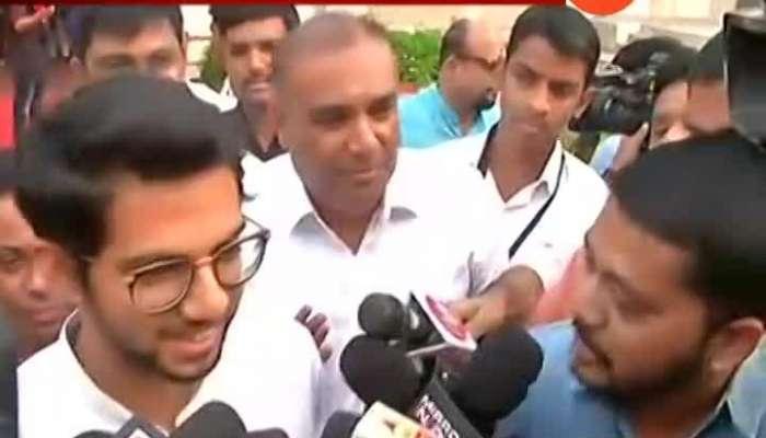 Aditya Thackeray Before Sworn