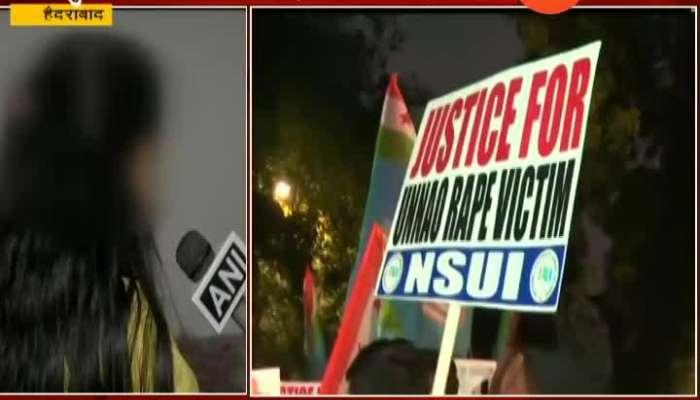 Hyderabad Rape Victim Sisiter Demand Quick Action For Punishment Of Rapist In Unnao