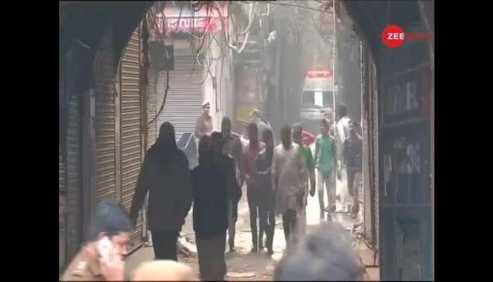दिल्ली : अनाज मंडी परिसरातील त्याच इमारतीला पुन्हा लागली आग