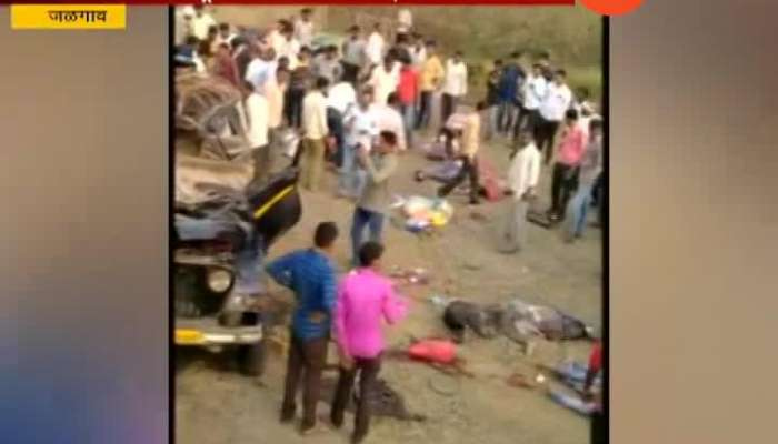 Jalgaon Eight Dead And Six Injured In Taxi And Truck Accident