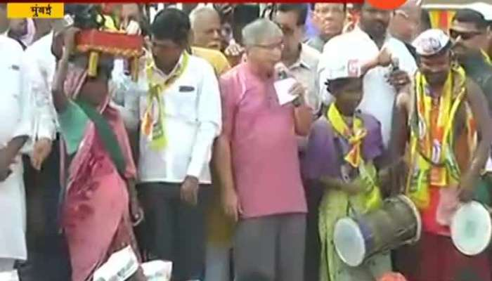 Mumbai Dadar Prakash Ambedkar At NRC And CAA Protest Rally