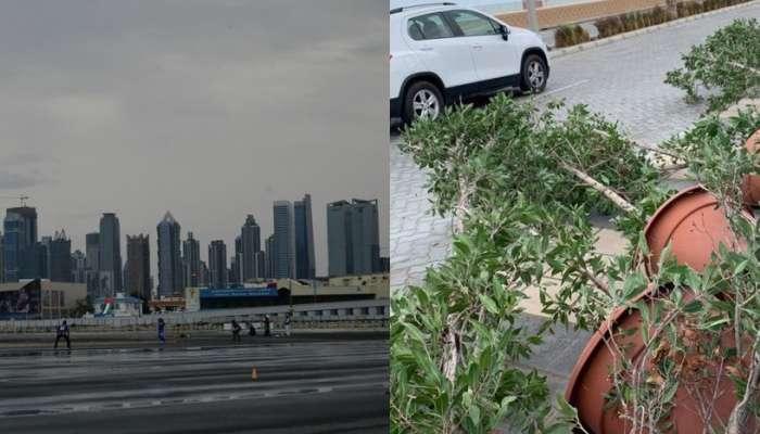 दुबईत पावसाचा हाहाकार, सौदी अरबमध्ये बर्फवृष्टी