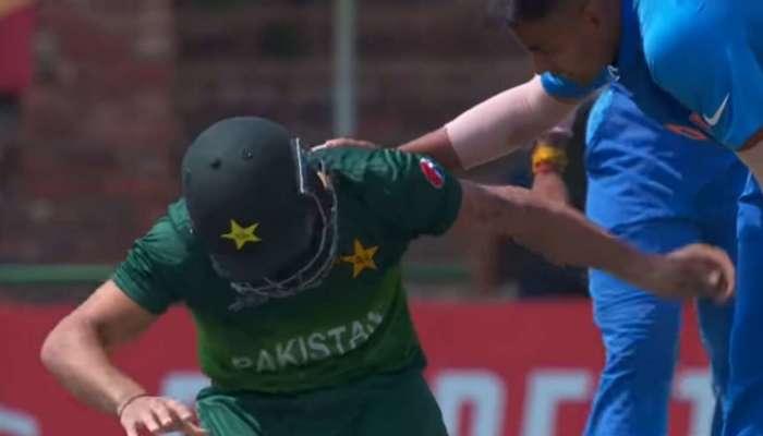 अंडर-१९ वर्ल्ड कप : पाकिस्तानविरुद्धच्या मॅचमध्ये भारतीय बॉलरने जिंकली मनं