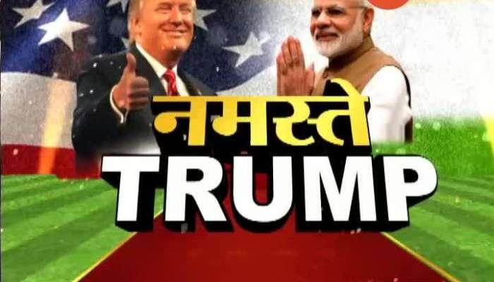 Ahmedabad PM Narendra Modi Hugs US President Donald Trump