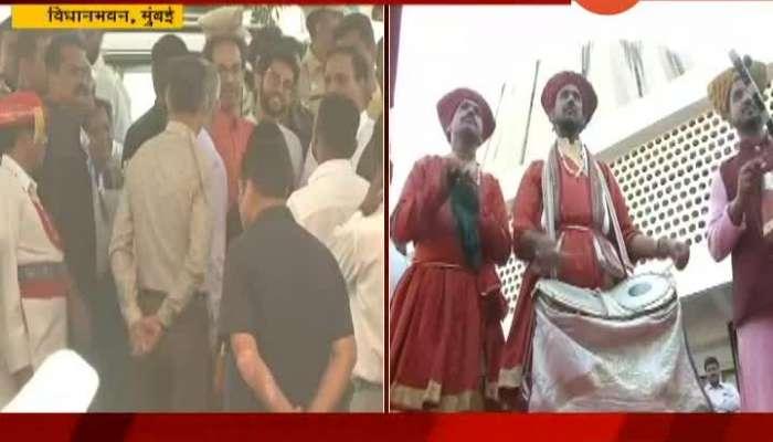 Mumbai CM Uddhav Thackeray At Vidhan Bhavan For Celebration Of Marathi Bhasha Din 2020
