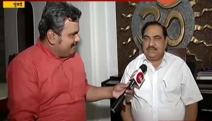 Mumbai BJP Leader Eknath Khadse On Rajya Sabha Nomination