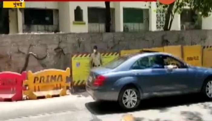 CM UDDHAV THACKERAY DRIVES HIS CAR ON THE ROAD