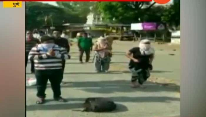 PUNE POLICE CAUGHT PEOPLE WHO GOES FOR MORNING WALK AND PUNISHED FOR DOING YOGA