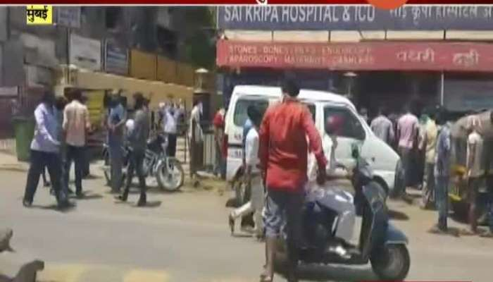 Mumbai Malad Migrant Worker In Long Que For Fitness Certificate From Hospital To Travel