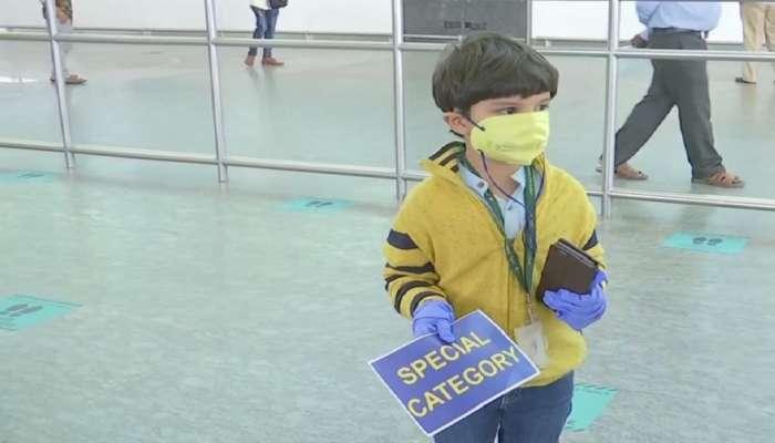 लॉकडाऊन : ५ वर्षाच्या चिमुकल्याचा एकट्याने दिल्ली ते बंगळुरु विमान प्रवास