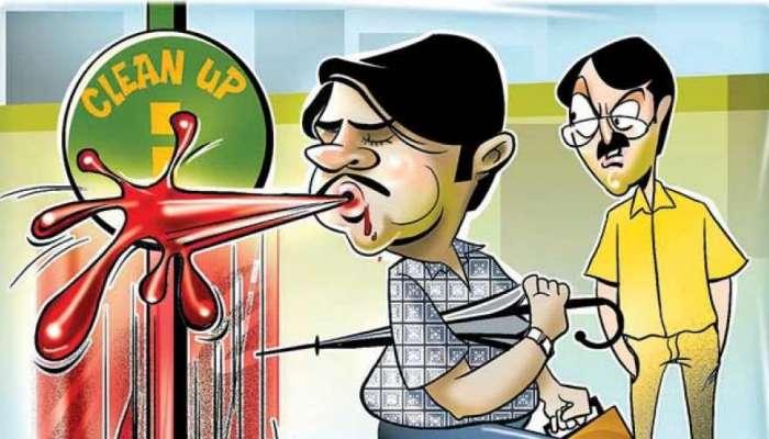 सावधान ! राज्यात सार्वजनिक ठिकाणी थुंकल्यास दंडासह होणार शिक्षा