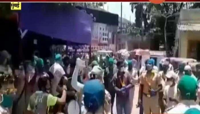 Mumbai Samta Nagar Police Gave Warm Welcome To Police Officer Returned On Duty After Corona