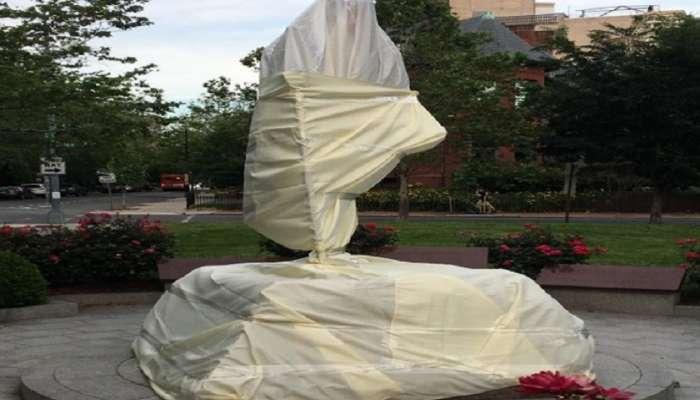 अमेरिकेत भारतीय दूतावासाबाहेरील गांधीजींच्या पुतळ्याची विटंबना