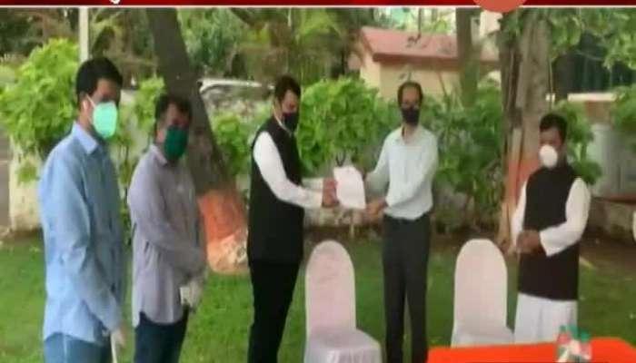 Mumbai Opposition Leader Fadanvis On Nisarga Cyclone Affected People Help