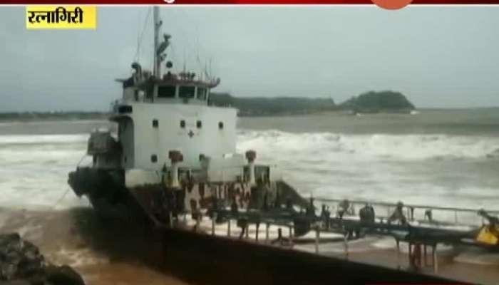 Ratnagiri Waves Four And A Half Meters High On The Coast