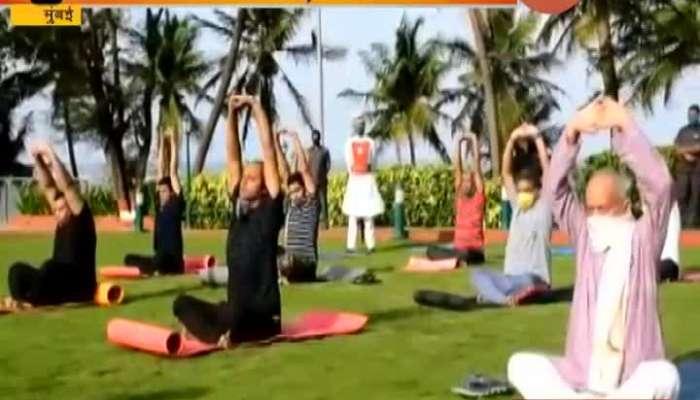 Mumbai Governor Bhagatsingh Koshyar Yoga