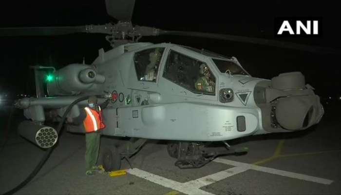 गलवान सीमा वाद : भारताकडून सीमेवर रात्रीचे लक्ष ठेवण्यासाठी अपाचे हेलिकॉप्टर तैनात