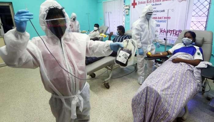 देशात गेल्या 24 तासात कोरोना रुग्णांमध्ये विक्रमी वाढ