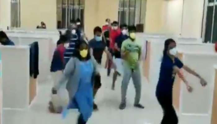 रुग्णालयात कोरोना रुग्णांचा डान्स व्हिडीओ व्हायरल