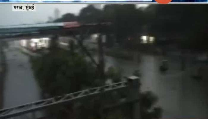 Mumbai,Parel Rain Water In Railway Track