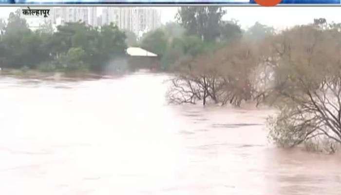Kolhapur Panchganga River Flowing Above Danger Mark As 102 Small Dams Under Water