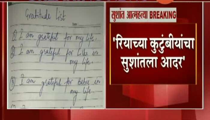 Sushant Singh Rajput's Letter Publish By Riya Chakraborty