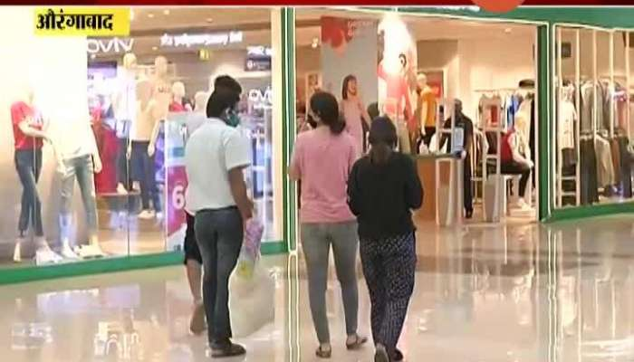 Aurangabad Report On Mall Open With Restriction