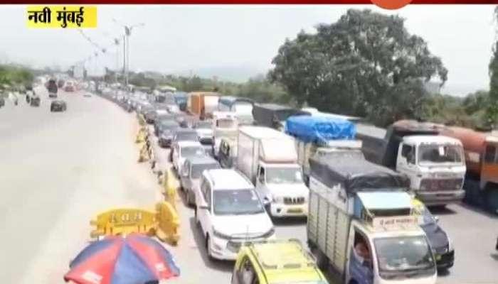 Navi Mumbai Sion Panvel Toll Naka Heavy Traffic Jam