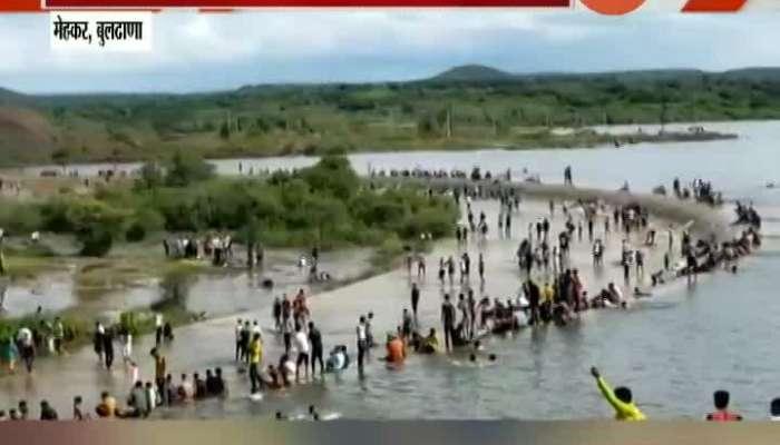 Buldhana Drunkers Mass Party At Utavali River Dam Administration Unware In Corona Pandemic