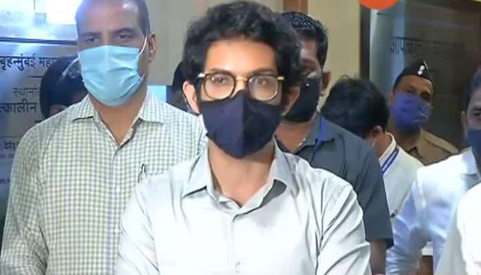 Maharashtra Tourism Minister Aditya Thackeray Brief Media On Heavy Rain And Water Logging