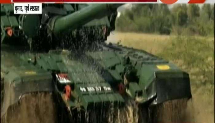 Indo-China border dispute: Indian Army All Geard With Battle Tanks At Eastern Ladakh