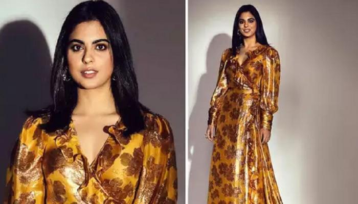 अबब! ईशाच्या सोन्यासारख्या ड्रेसची किंमत सोन्याहूनही जास्त