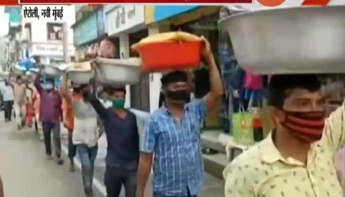 Navi Mumbai,Airoli MNS Party Action Against Outsiders Fishermens