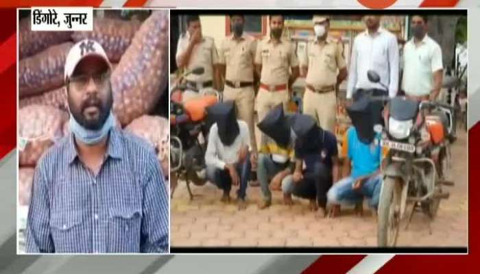 Junnar Police Arrested Robber For Stealing Onion From Farmers