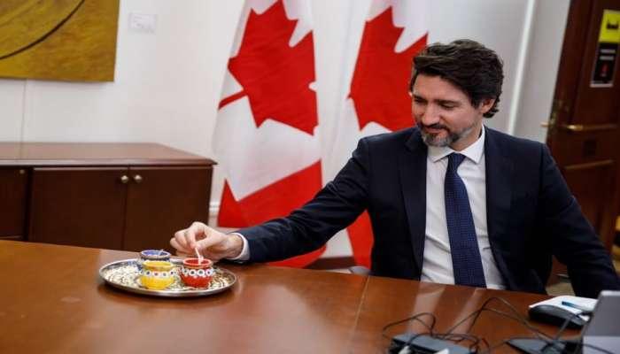 कॅनेडाचे पंतप्रधान जस्टीन ट्रूडो यांनी दिवाळीच्या शुभेच्छा दिल्या