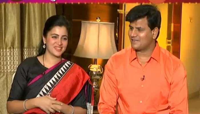 Diwali special interview. Popular couple in politics Navneet Rana, Ravi Rana