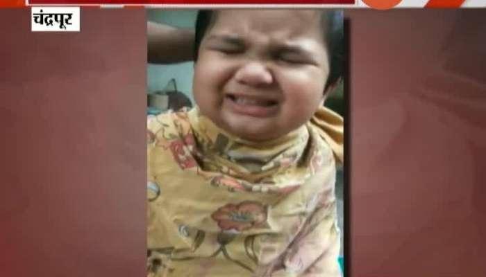 Chandrapur Small Boy Hair Cutting Video Getting Viral