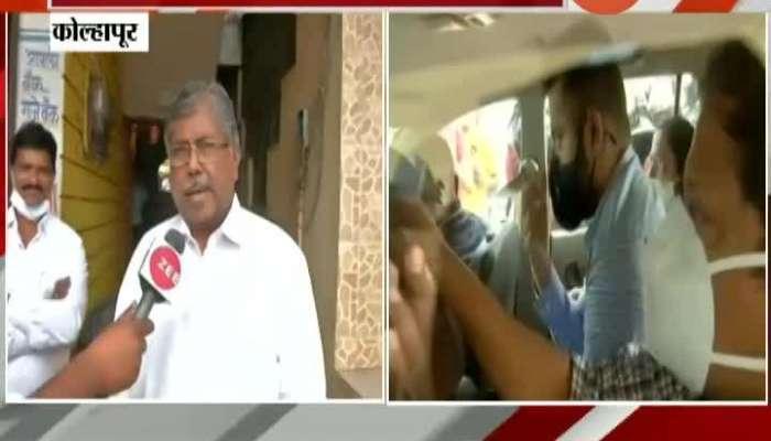 Kolhapur BJP State President Chandrakant Patil On Sanjay Raut Allegations.