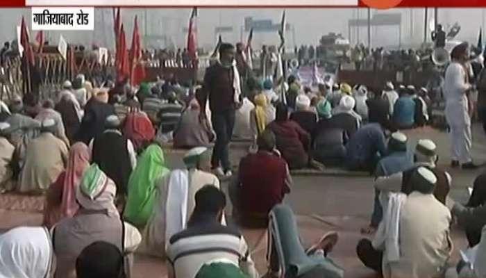 Gaziabad Delhi Highway Closed By Farmers protest