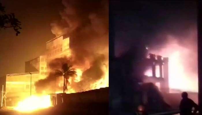 अहमदाबाद येथे तीन केमिकल कंपन्यांमध्ये भीषण आग