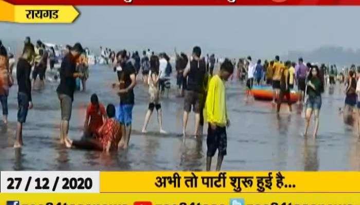 Raigad Alibag Beach Flourished With Tourist To Celebrate Three Days Holiday