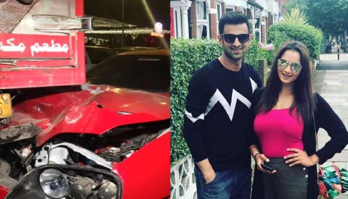 Sania Mirza चा पती Shoaib Malik चा अपघात, कारच्या उडाल्या चिंधड्या