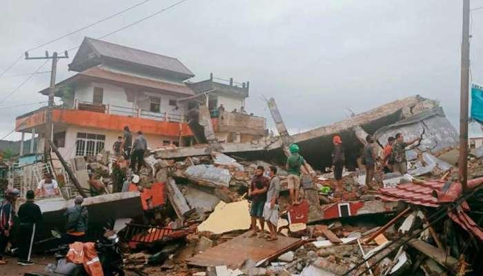 Earthquake : इंडोनेशियात 6.2 तीव्रतेचा भूकंप, आतापर्यंत 7 मृत्यू; 100 पेक्षा जास्त