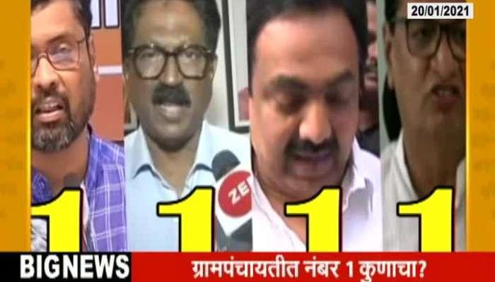 Maharashtra All Political Parties Consider As No 1 Party In Gram Panchayat Election