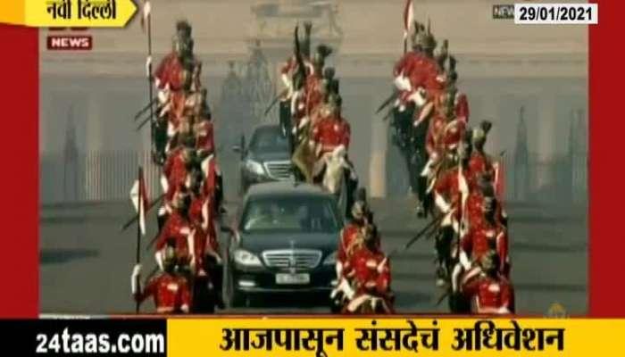 Delhi President Reached At Parliament