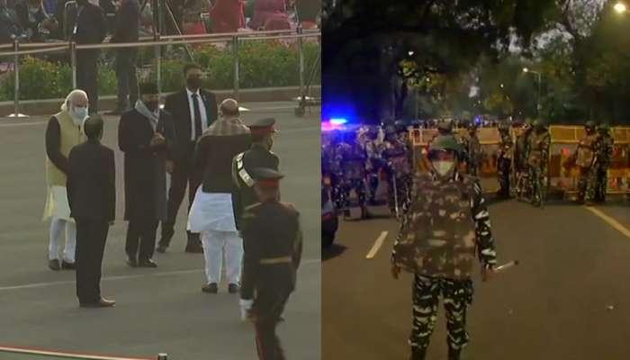 पंतप्रधान, राष्ट्रपती उपस्थित असलेल्या विजय चौकापासून फक्त दीड किलोमीटरवर स्फोट