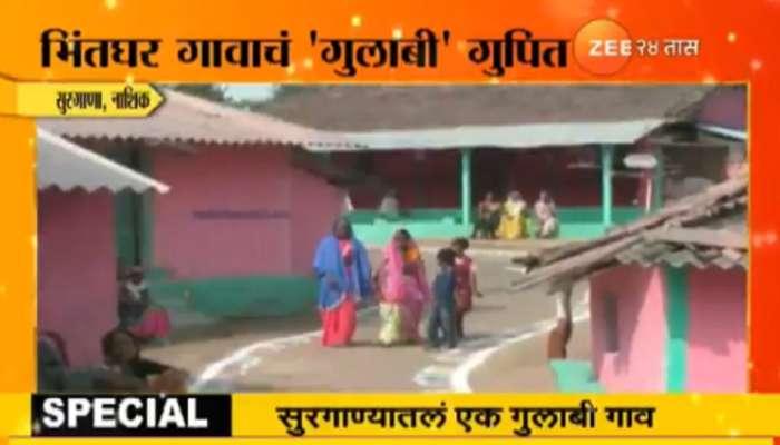 राज्यात असं एक गाव आहे, संपूर्ण गुलाबी रंगाचे !