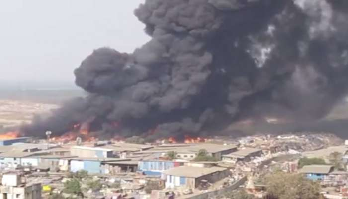 घाटकोपर-मानखुर्द लिंक रोडवर भंगार गोदामांना लागलेली आग 20 तासांनंतर आटोक्यात